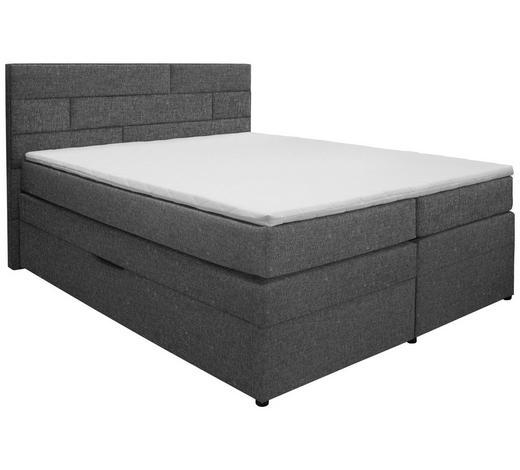 POSTEL BOXSPRING, 180/200 cm, textil, tmavě šedá - tmavě šedá/barvy wenge, Konvenční, dřevo/textil (180/200cm) - Carryhome