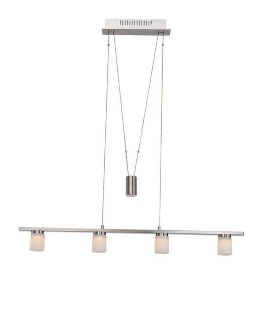 LED-HÄNGELEUCHTE - Nickelfarben, Design, Glas/Metall (90/5,8/150cm)