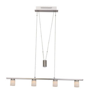 LED-PENDELLAMPA - nickelfärgad, Klassisk, metall/glas (90/5,8/150cm)