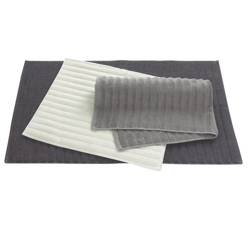 BADTEPPICH in Anthrazit, Taupe, Beige 50/80 cm - Taupe/Anthrazit, Basics, Textil (50/80cm) - Esposa