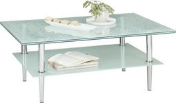 COUCHTISCH in Metall, Glas 110/65/44,5 cm   - Chromfarben/Transparent, KONVENTIONELL, Glas/Metall (110/65/44,5cm) - Xora