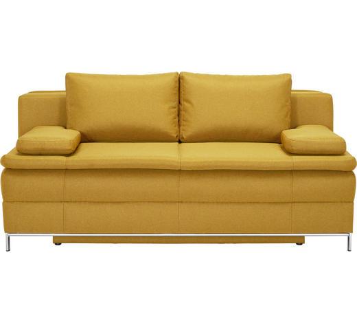 BOXSPRING TROSJED - boje kroma/žuta, Design, tekstil/metal (200/93/107cm) - Novel
