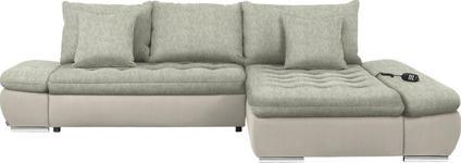 WOHNLANDSCHAFT in Beige, Naturfarben Textil - Chromfarben/Beige, Design, Textil/Metall (309/200cm) - Hom`in