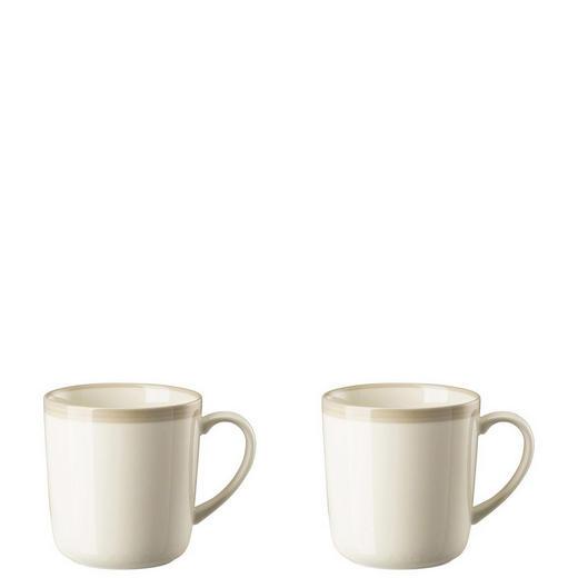 KAFFEEBECHERSET 2-teilig Keramik Porzellan Grau - Grau, Basics, Keramik (0,42l)