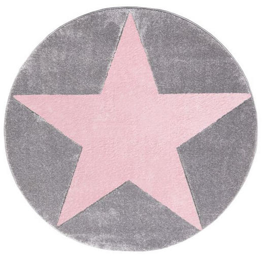 KINDERTEPPICH   Grau, Rosa, Silberfarben - Silberfarben/Rosa, Basics, Textil (160cm)