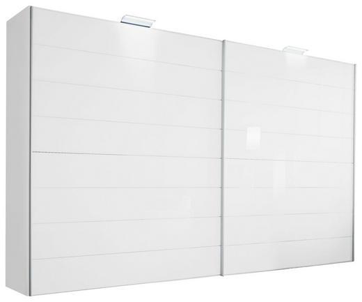 SCHWEBETÜRENSCHRANK 2-türig Weiß - Chromfarben/Weiß, Design, Glas/Holzwerkstoff (331/222/68cm) - Moderano