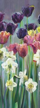 Blumen KEILRAHMENBILD - Multicolor, Basics, Holz/Textil (30/80/3,5cm) - Eurographics