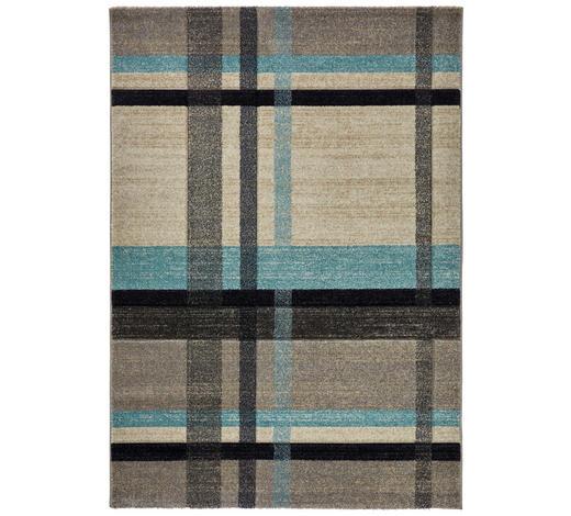 WEBTEPPICH - Blau/Beige, KONVENTIONELL, Naturmaterialien/Textil (160/230cm) - Novel