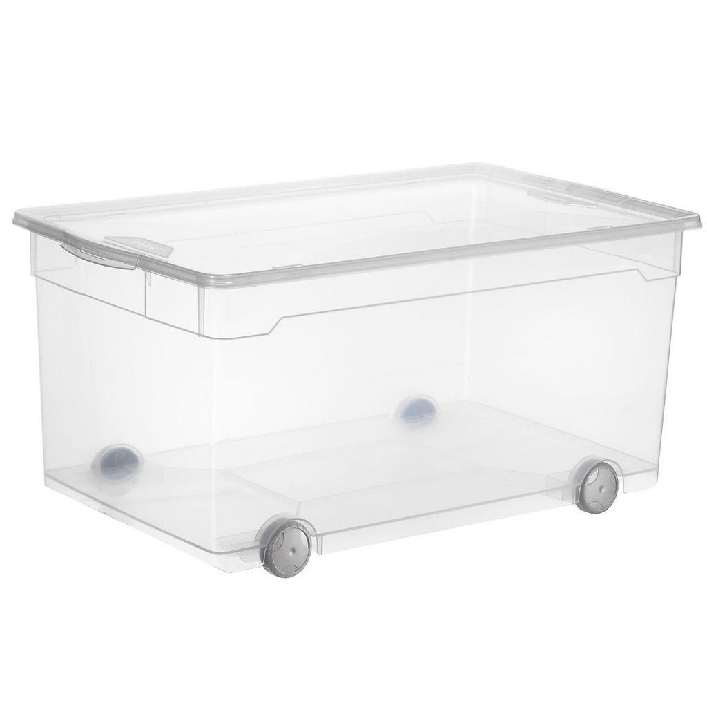 Kiste mit Rollen - praktisch zum Einlagern von Kleidung