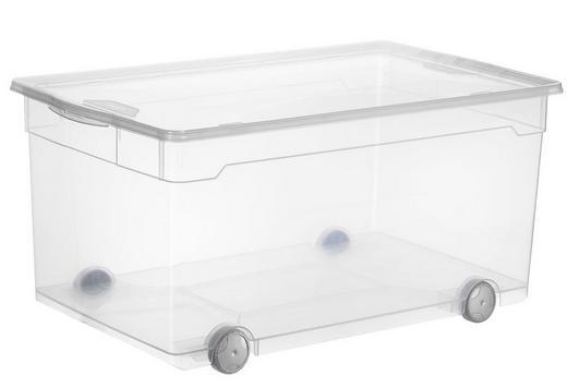 BOX MIT DECKEL - Transparent, Basics, Kunststoff (71.5/40/33.5cm)