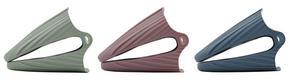 GRYTLAPP 2-PACK - mörkrosa/mörkgrön, Basics, plast (11/9cm)