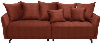 MEGASOFA in Textil Rostfarben  - Rostfarben/Schwarz, Design, Textil/Metall - Carryhome