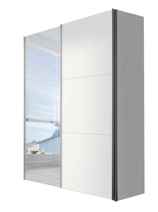 SCHWEBETÜRENSCHRANK 2-türig Weiß - Weiß, KONVENTIONELL, Glas/Holzwerkstoff (150/216/68cm) - Hom`in