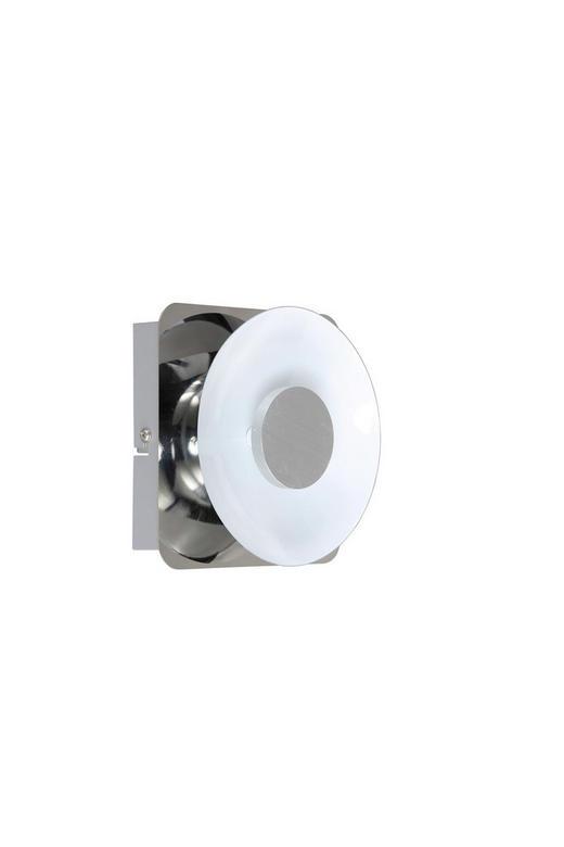 LED-WANDLEUCHTE - Chromfarben, LIFESTYLE, Metall (14/14/6cm)