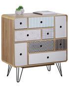 KOMODA - šedá/bílá, Design, kov/kompozitní dřevo (80/85/40cm) - Carryhome