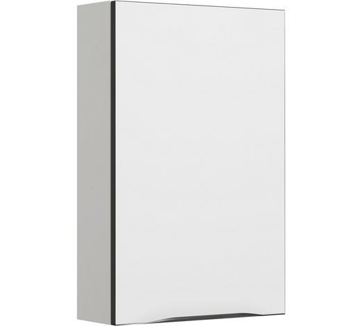 OBERSCHRANK Anthrazit, Weiß  - Anthrazit/Weiß, KONVENTIONELL, Glas/Holzwerkstoff (45/70/17cm) - Sadena