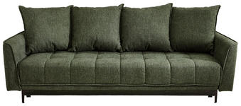 SCHLAFSOFA Flachgewebe Grün  - Schwarz/Grün, MODERN, Textil (235/70/108cm) - Xora