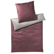 BETTWÄSCHE Makosatin Grau, Rot 135/200 cm - Rot/Grau, Basics, Textil (135/200cm) - Joop!