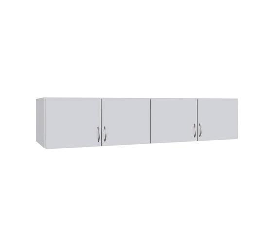AUFSATZSCHRANK 181/39/54 cm Weiß  - Silberfarben/Weiß, Design, Kunststoff (181/39/54cm) - Carryhome