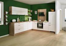 ECKKÜCHE - Weiß/Sonoma Eiche, Design, Holzwerkstoff (285/275cm) - Xora