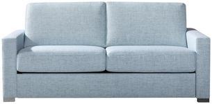 SCHLAFSOFA Blau  - Blau/Chromfarben, Design, Textil/Metall (188/86/97cm) - Novel