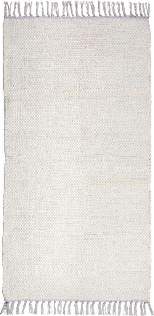 FLECKERLTEPPICH  60/120 cm  Weiß - Weiß, LIFESTYLE, Textil (60/120cm) - Boxxx