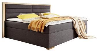 BOXSPRINGBETT 180 cm   x 200 cm   in Holzwerkstoff, Textil Anthrazit, Eichefarben - Eichefarben/Anthrazit, Design, Holzwerkstoff/Textil (180/200cm) - Carryhome
