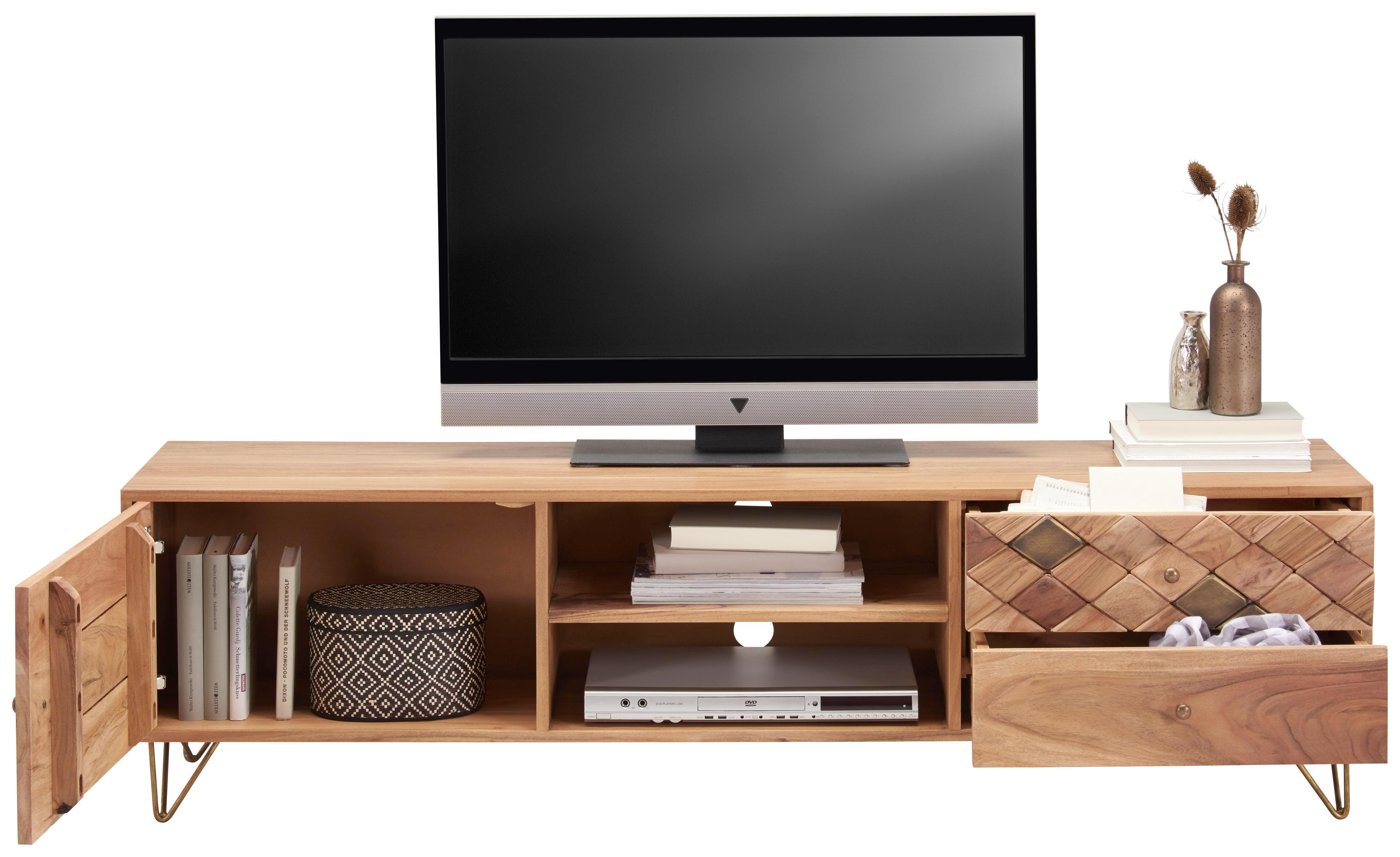 LOWBOARD in Naturfarben - Naturfarben, Trend, Holz/Holzwerkstoff (160/45/35cm) - Ambia Home