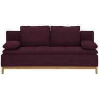 SCHLAFSOFA in Textil Dunkelrot  - Dunkelrot, MODERN, Holz/Textil (200/96/88cm) - Joka