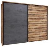 KLEIDERSCHRANK in Anthrazit, Fichtefarben  - Fichtefarben/Anthrazit, Design, Holzwerkstoff/Metall (270/210/60cm) - Xora