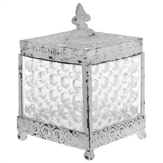DEKOBOX - Weiß, Trend, Glas/Metall (16/26/16cm)
