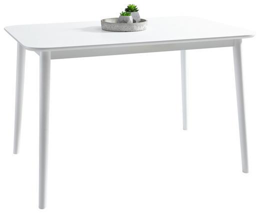 ESSTISCH Kautschukholz massiv Weiß - Weiß, KONVENTIONELL, Holz (120/76/75cm) - Carryhome