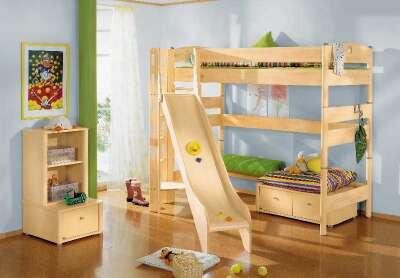 SPIELBETT - Birkefarben, Design, Holz (237,3/149,7/211,5cm) - PAIDI