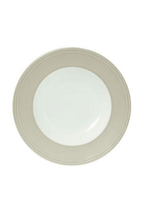 DJUP TALLRIK - vit/ljusgrå, Design, keramik (23,3cm) - Novel