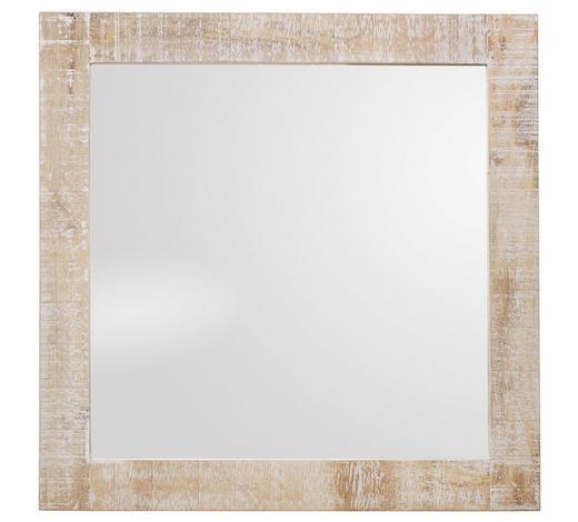 SPIEGEL 74/74/3 cm - Naturfarben/Weiß, LIFESTYLE, Glas/Holz (74/74/3cm) - Landscape