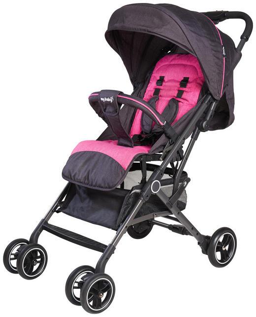BUGGY  Porto  Grau, Pink - Pink/Dunkelgrau, Basics, Textil/Metall (96/49/99cm) - My Baby Lou
