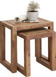 SADA ODKLÁDACÍCH STOLKŮ, dřevo, barvy sheesham - barvy sheesham, Lifestyle, dřevo (45/30/45cm) - Landscape