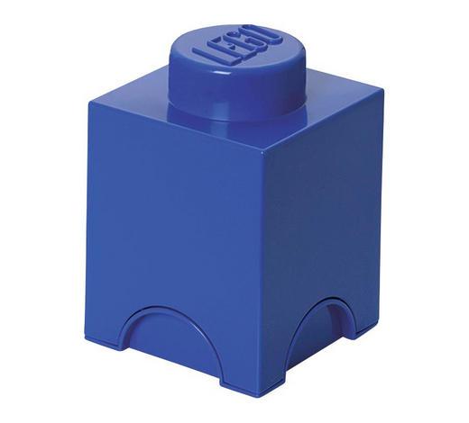 AUFBEWAHRUNGSBOX 12,5/12,5/18 cm  - Blau, Trend, Kunststoff (12,5/12,5/18cm) - Lego