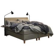BOXSPRINGBETT 180/200 cm  in Beige - Eichefarben/Beige, KONVENTIONELL, Holz/Textil (180/200cm) - Jensen