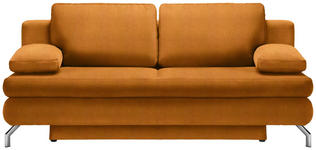 SCHLAFSOFA Orange  - Chromfarben/Orange, Design, Textil/Metall (200/91/92cm) - Novel