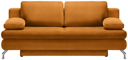 SCHLAFSOFA in Textil Orange - Chromfarben/Orange, Design, Textil/Metall (200/91/92cm) - Novel