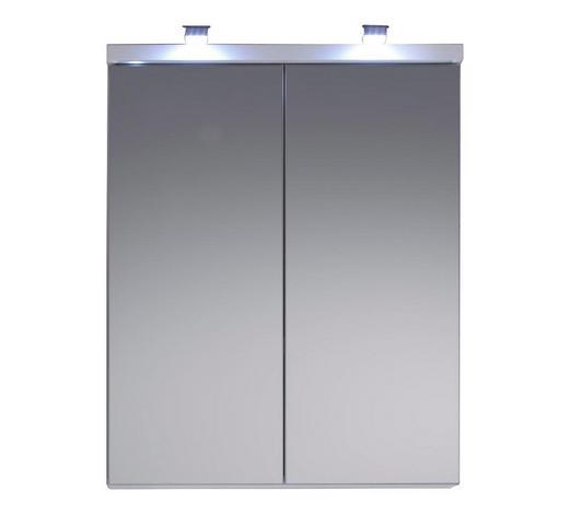 SPIEGELSCHRANK 65/80/21 cm - Weiß, Design, Glas/Holzwerkstoff (65/80/21cm) - Xora