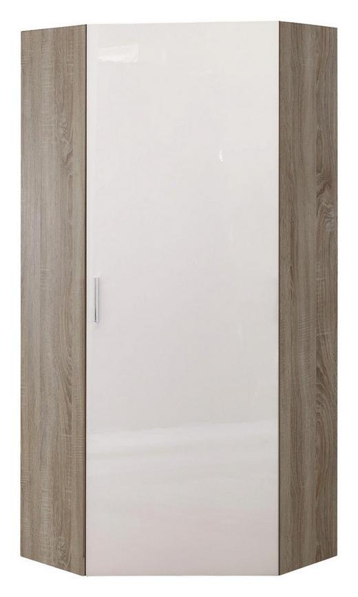 GARDEROBENSCHRANK 80/185/80 cm - Chromfarben/Eichefarben, Design, Holzwerkstoff/Kunststoff (80/185/80cm) - Xora