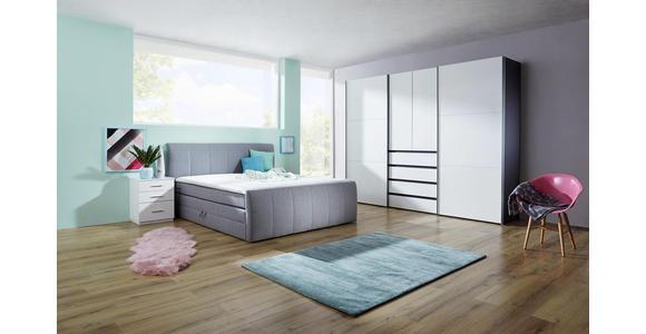 KLEIDERSCHRANK in Graphitfarben, Weiß  - Alufarben/Graphitfarben, Design, Holzwerkstoff/Metall (300/236/68cm) - Hom`in