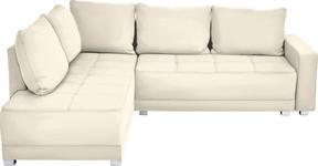 WOHNLANDSCHAFT in Textil Beige - Beige/Silberfarben, Design, Kunststoff/Textil (207/243cm) - Xora