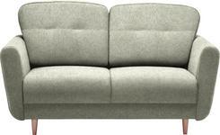 ZWEISITZER-SOFA Grau - Grau, Design, Holz/Textil (154/90/93cm) - Hom`in