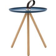 BEISTELLTISCH in Blau, Eichefarben - Blau/Eichefarben, Design, Holz/Metall (40/45cm) - Rolf Benz