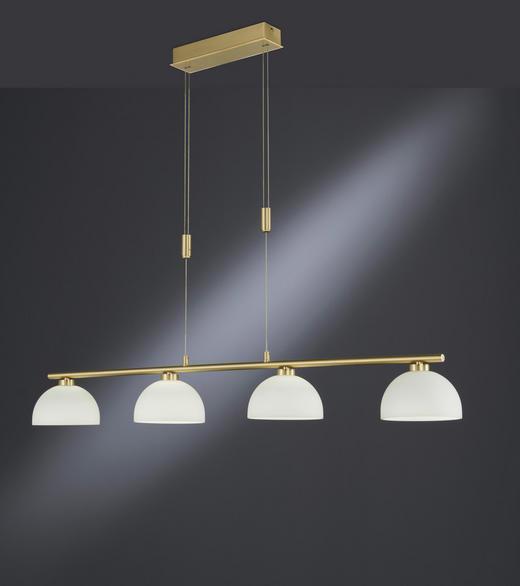 LED-HÄNGELEUCHTE - Messingfarben/Weiß, MODERN, Glas/Metall (110/104-159cm)