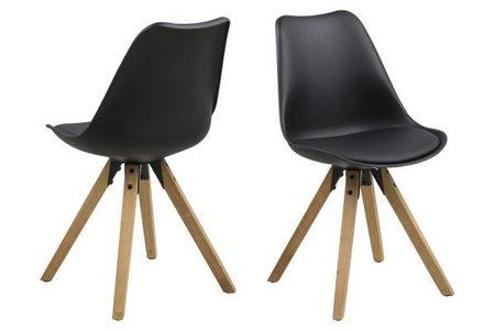 STOLICA - Crna, Dizajnerski, Tekstil/Drvo (44/85/42cm) - Carryhome