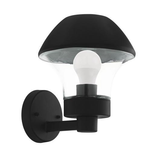 LED-AUßENLEUCHTE - Klar/Schwarz, Design, Glas/Metall (26,5/21/24,5cm)